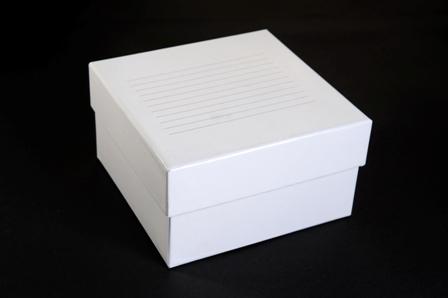 Caixa de fibra de papelão com divisória para microtubos e tubos criogênicos