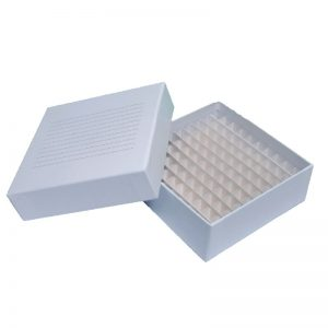 Caixa Fibra De Papelão C/ 100 Furos Para Tubos 1,5-2ml Hz104