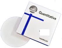 Papel filtro quantitativo 15cm, filtração lenta MODELO: QFP-15CM-BLUE