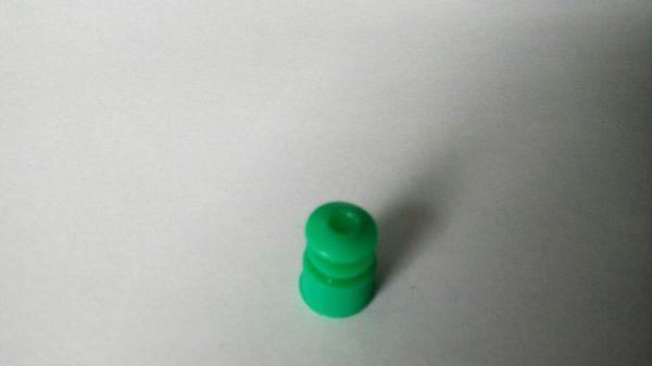 Tampa raiada tipo flecha p/tubos 12 mm COR VERDE - pct c/50