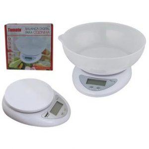 Balança Digital C/ Tigela Para Cozinha - Sf420 - Tomate