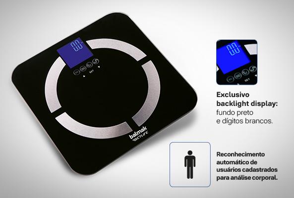 Balança Digital De Análise Corporal Slimtop-180 - Balmak