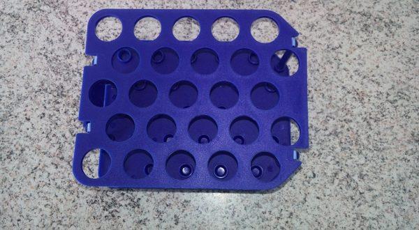 Estante / Rack p/25 tubos falcon de 15 ml cod 52015 - cor azul