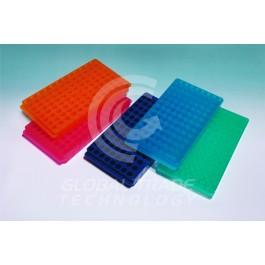 Estante Dupla Face para 96 Microtubos - laranja