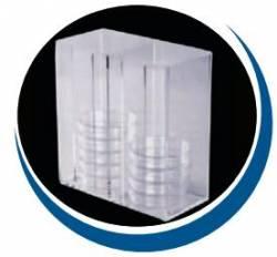 Suporte Acrilico para placas de petri - hs23452 - NÃO AUTOCLAVAVEL