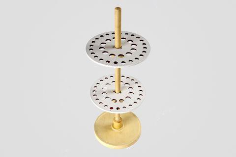 Suporte Vertical para 36 Pipetas em Madeira cod 040-2 (com 2 discos)