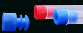 Tampa Raiada Tipo Flecha P/tubos 12 Mm Cor Azul - Pct C/50