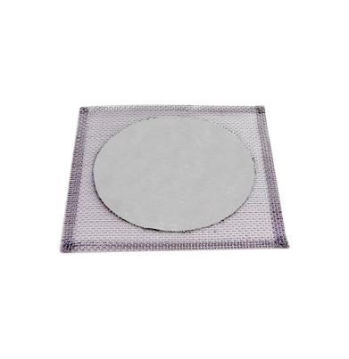 Tela De Arame Galvanizado, C/disco Refratario, 14x14cm Cod 001-3