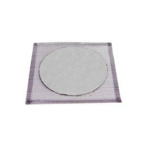 Tela De Arame Galvanizado, C/disco Refratario, 24x24cm Cod 001-8